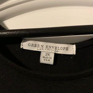 Green Envelope Tops - Cold shoulder top